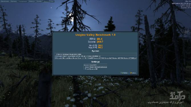 برنامه تست سیستم Unigine Suite